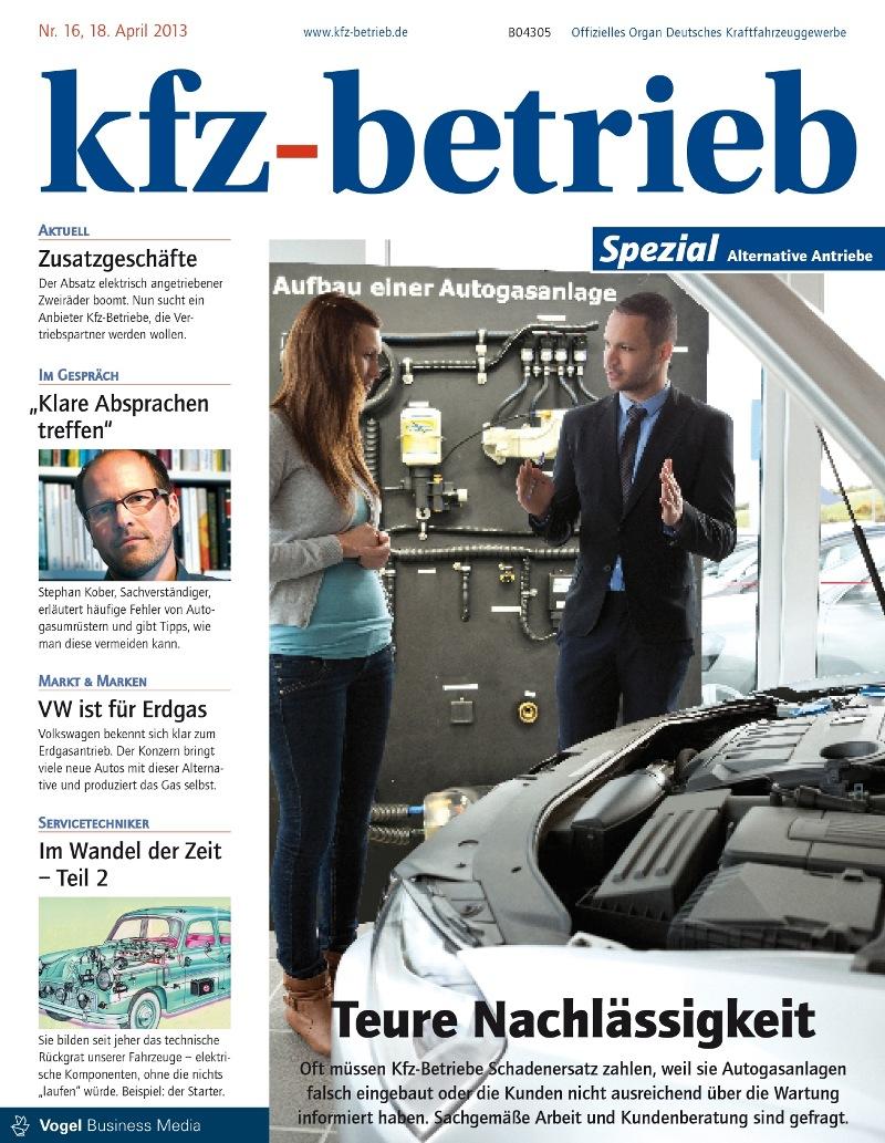 kfz-betrieb - Spezialausgabe 16: Alternative Antriebe und Kraftstoffe
