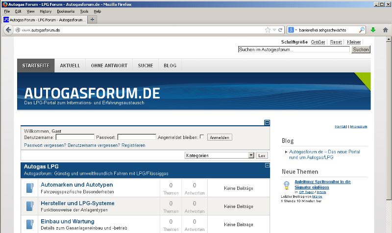 Das neue LPG Forum auf Autogasforum.de
