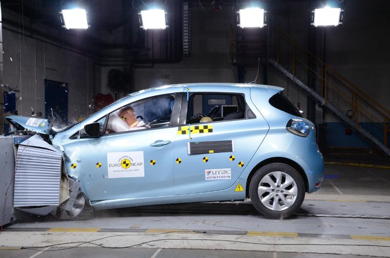 Renault ZOE beim Euro NCAP-Crashtest