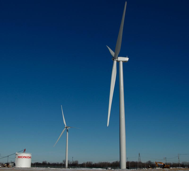 Honda nutzt Windenergie zur Fahrzeugproduktion