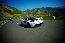 Tag 2 bei der e-miglia 2011 - Tesla Roadster