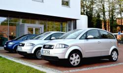 Insegsamt drei Audi A2 Elektroautos wurden bei dem Feldversuch in Oldenburg eingesetzt.