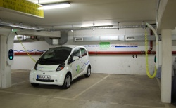 cambio CarSharing - eMobil an der Station Behring in Hamburg