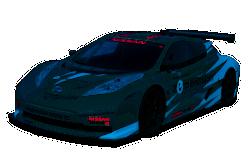 Elektroauto in der Rennversion beim 24 Stunden Rennen von Le Mans