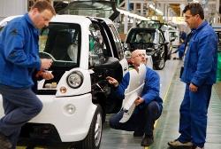 Produktion des kleinen Elektroauto mia ist gestartet