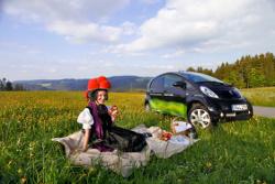 Im Urlaub mit dem iOn Elektroauto unterwegs.