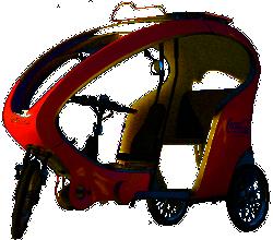 Das eVelotaxi verfügt nun über einen komfortablen Elektroantrieb
