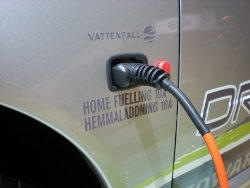 Heimladestation für zukünftige Elektrofahrzeuge (IAA 2009)
